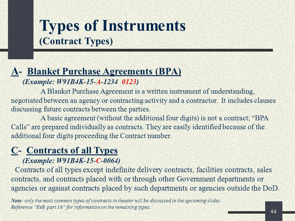 Blanket Purchase Agreements Sample Blanket Purchase Agreement
