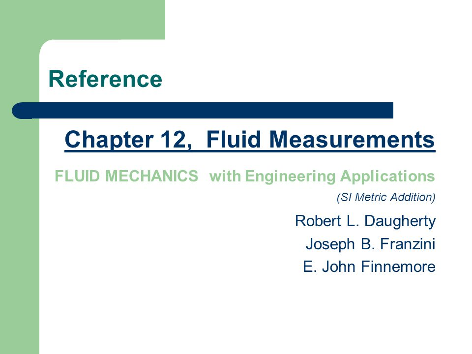 Fluid mechanics with engineering applications by joseph