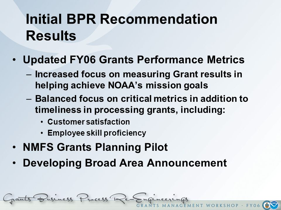 Initial BPR Recommendation Results