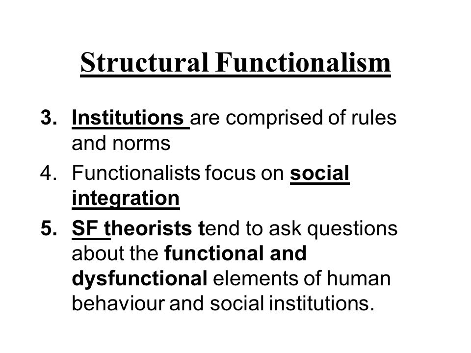 major differences across the functionalist conflict and symbolic interaction perspectives Get an answer for 'what are the major differences between the functionalist and symbolic interaction perspectives in sociology ' and find homework help for other.