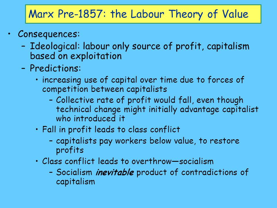 Criticisms of the labour theory of value