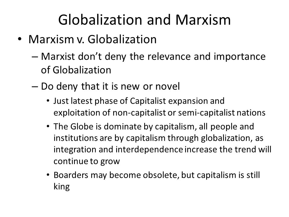 marxist theory of international relations pdf