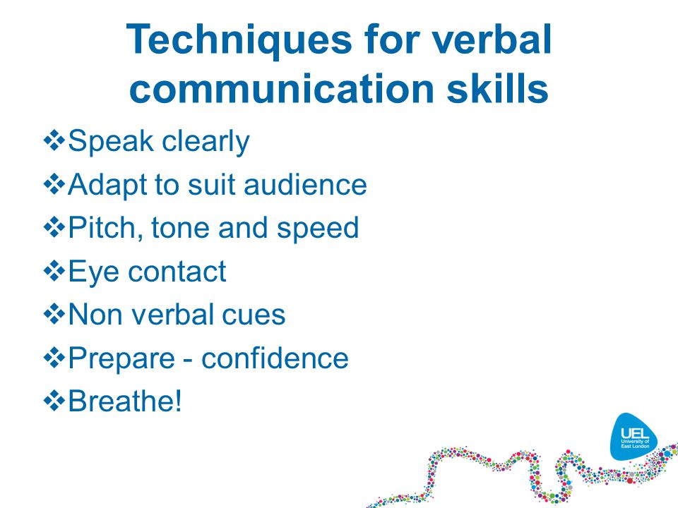 communication skills verbal 04 verbal communication communication skills 70 • part ii in other words, the names that make verbal distinctions also help you.