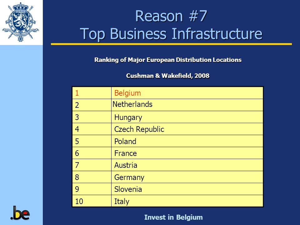 Reason #7 Top Business Infrastructure