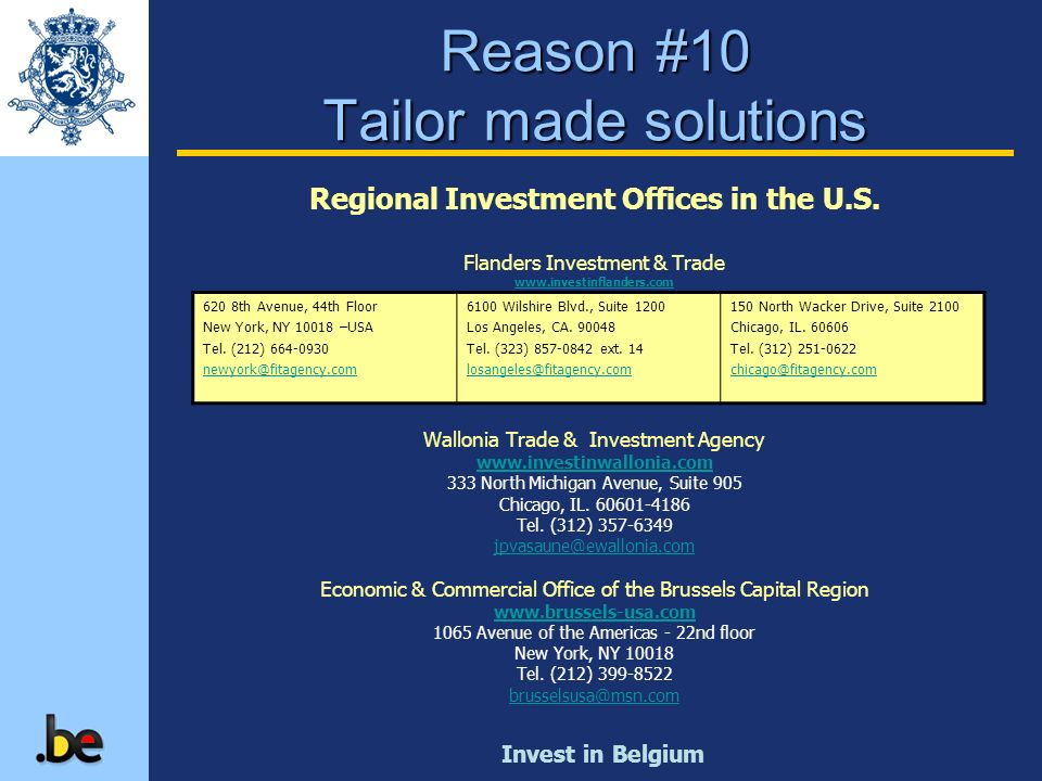 Reason #10 Tailor made solutions