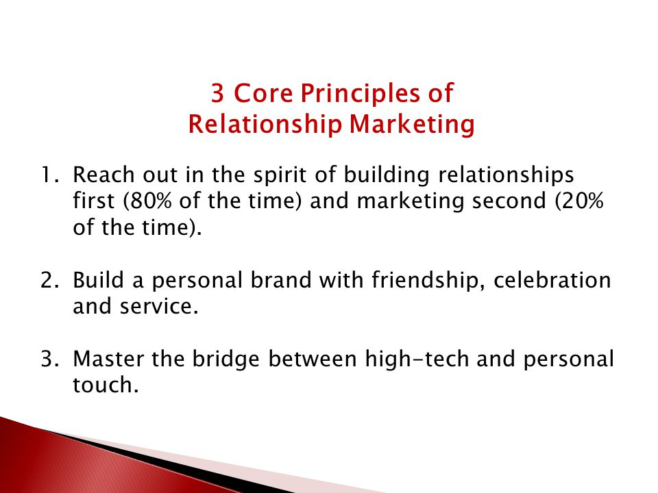 explain the principles of relationship building Effectively listening is imperative to developing quality relationships  quality relationships are based upon seven principles 1 acceptance  how-to build .