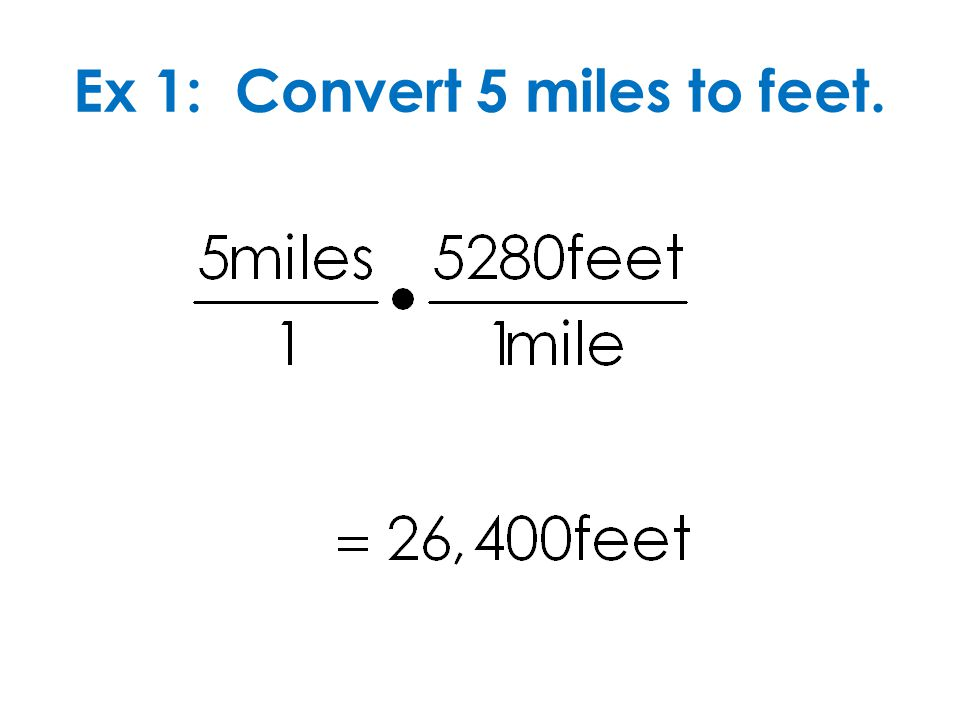 Ex 1: Convert 5 miles to feet.