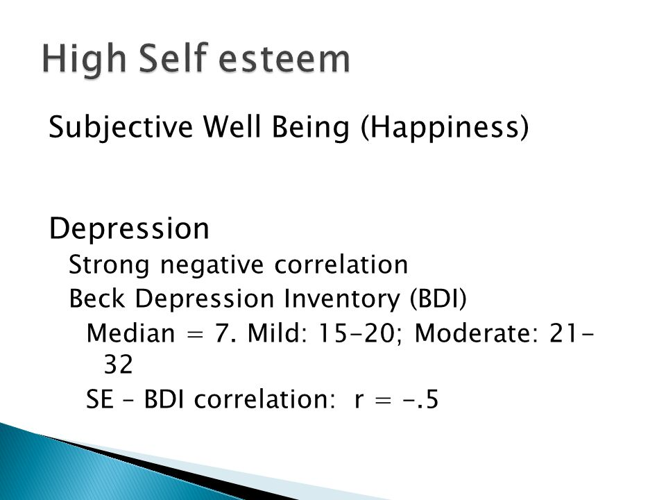 self esteem well being The current study attempts to examine integrated effects of procrastination, self- esteem, and academic performance on well-being in a sample of turkish.