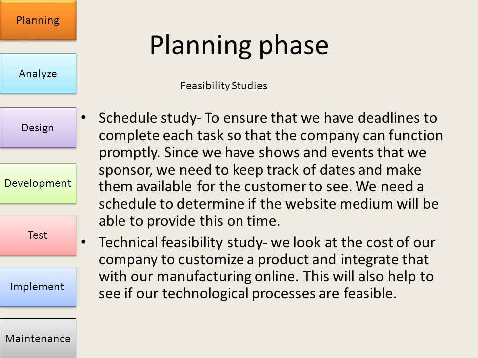 planning and design phase Preliminary planning and design knowledge centre / from concept to contract to completion / preliminary planning and design preliminary planning and design is rightfully a broad term in order to cover the range of activities to be considered during the planning and design phase.
