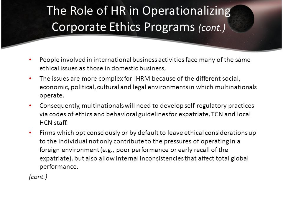 the role of ethical practices in modern business By supporting ethically sound behavior, managers can strengthen the  not more —important is the damage an ethical lapse can do to an organization's.