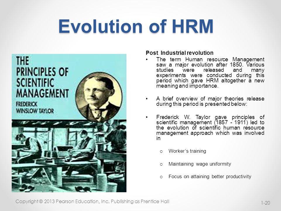 evolution of scientific management pdf
