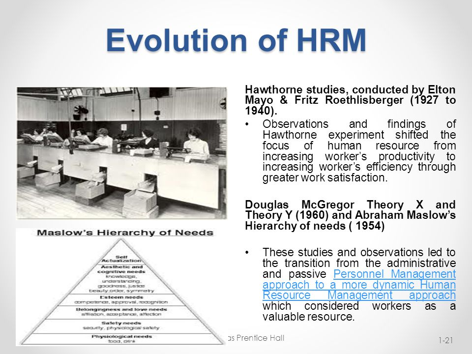evolution of personell management The historical background of human resource management personnel administration, which emerged as a clearly defined field by the 1920s (at least in.