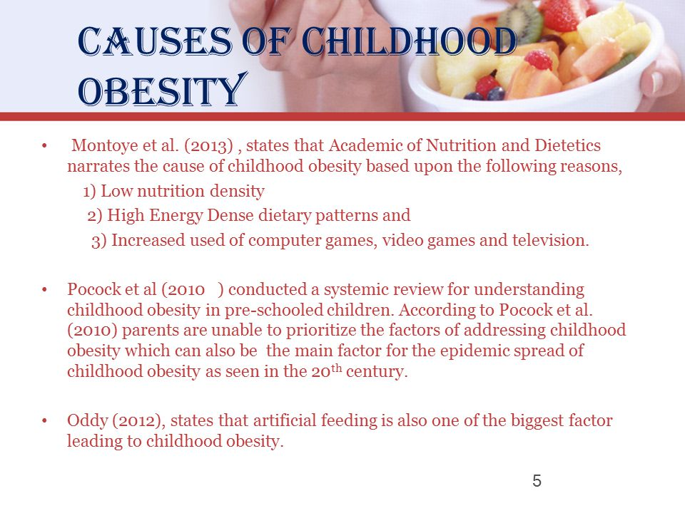 the causes of childhood obesity in the united states Sweet drinks and obesity the consumption of sweetened drinks, such as soda for older children, drinking a lot of juice doesn't usually cause fullness when looking at obesity in the united states alongside fructose and soft drink consumption.