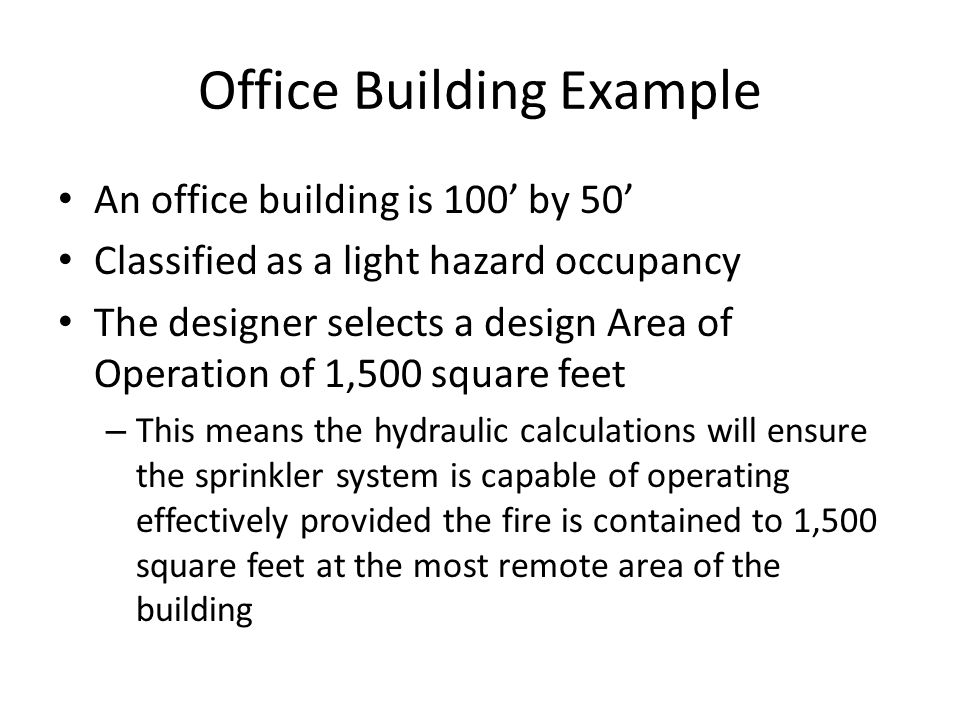 hydraulic calculations for sprinkler systems pdf