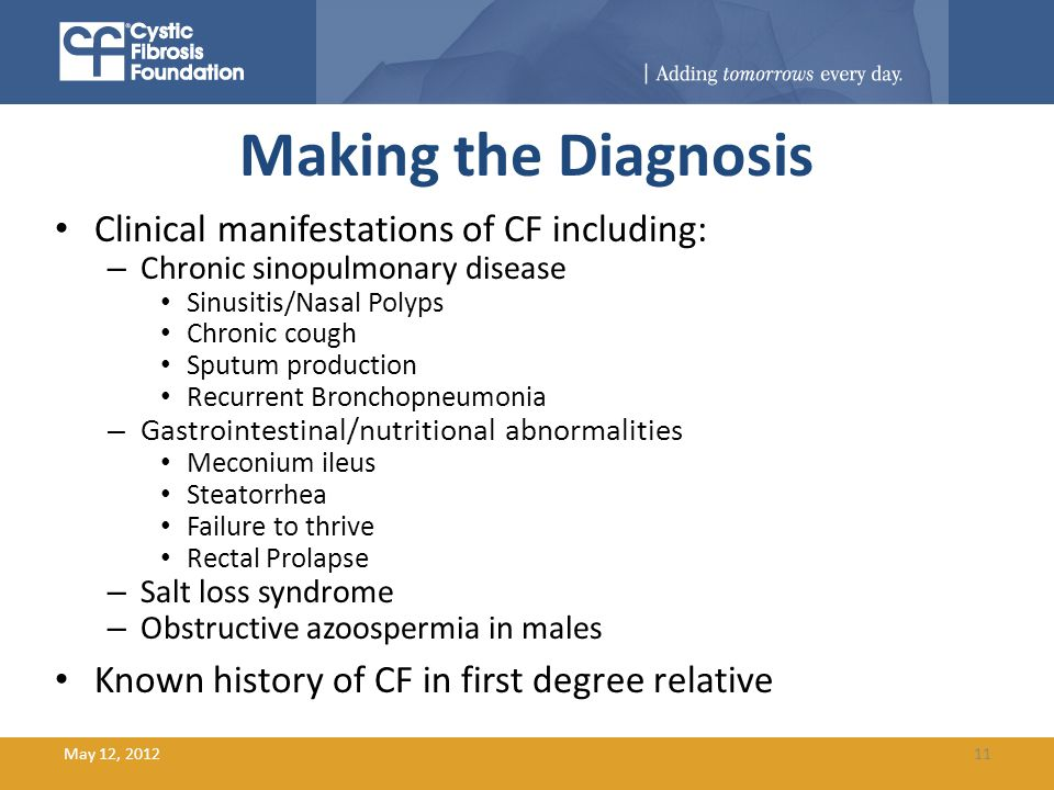 Cystic Fibrosis: Etiology, Genetics, and Diagnosis - ppt ...