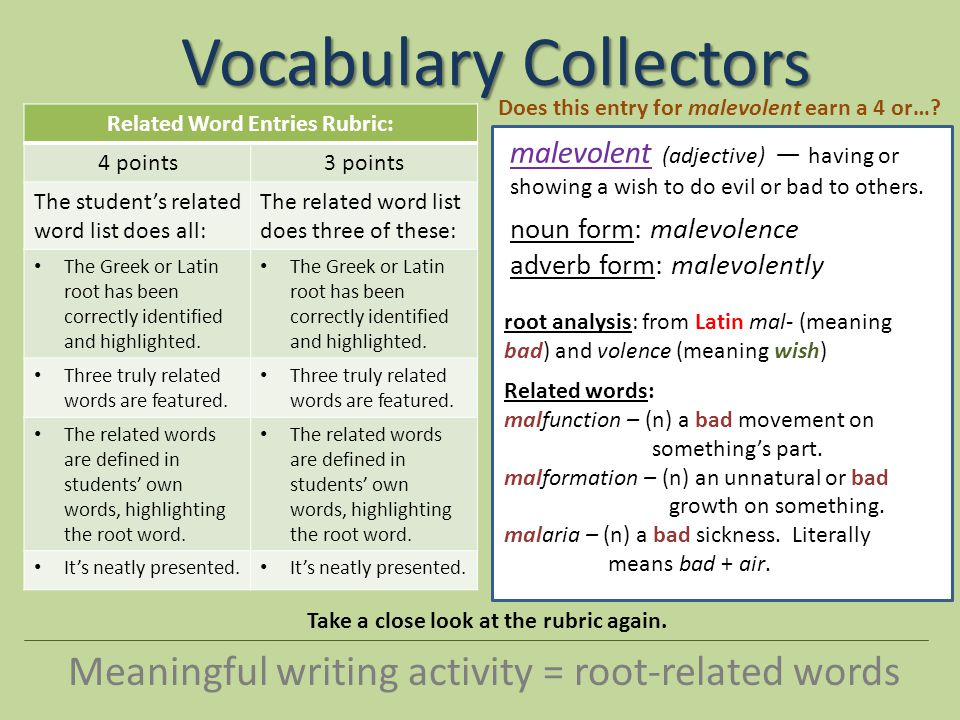 Vocabulary Collectors - ppt video online download