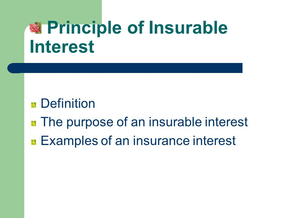 Fundamental principles in insurance ppt video online for Terest definition