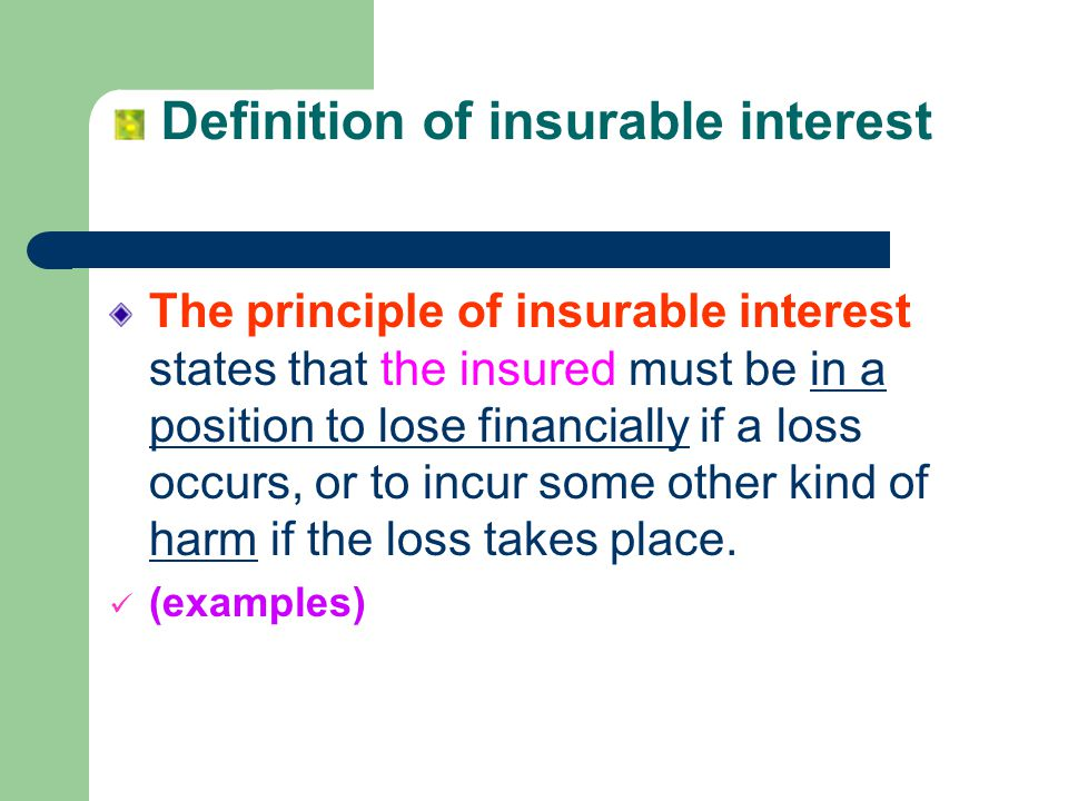 Definition of insurable interest