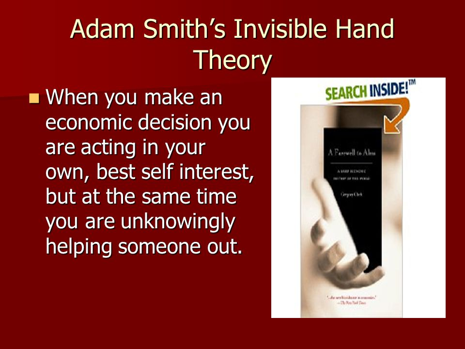 the invisible hand theory essay Race, gender, and the invisible hand of  this essay focuses on a different  the invisible hand of social capital refers to network resources that are.