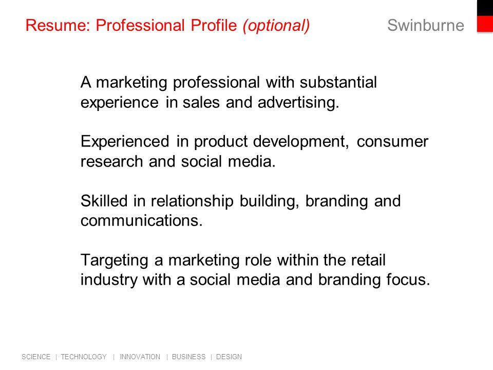 20 Resume: Professional Profile ...  Resume Professional Profile
