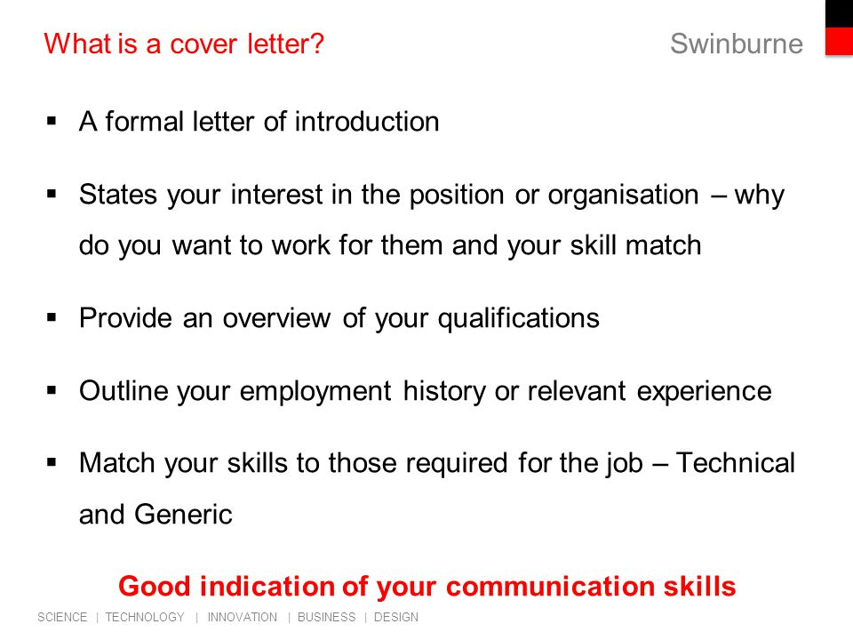 Cover Letter For Communications Job Sample Cover Letter