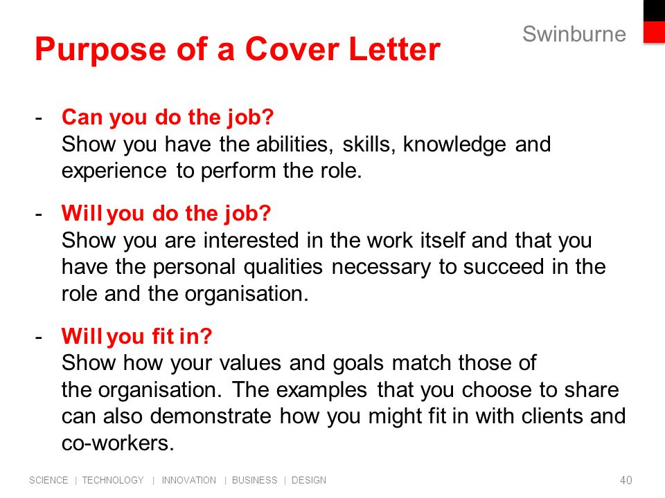 Employability professional career start strategies job for What is the purpose of a covering letter