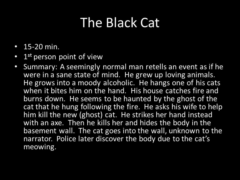 edgar allen poe ppt video online  66 the black cat