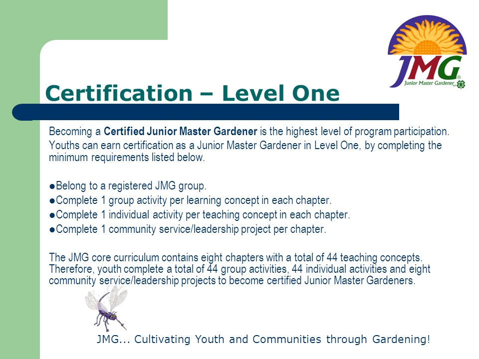 Certification – Level One
