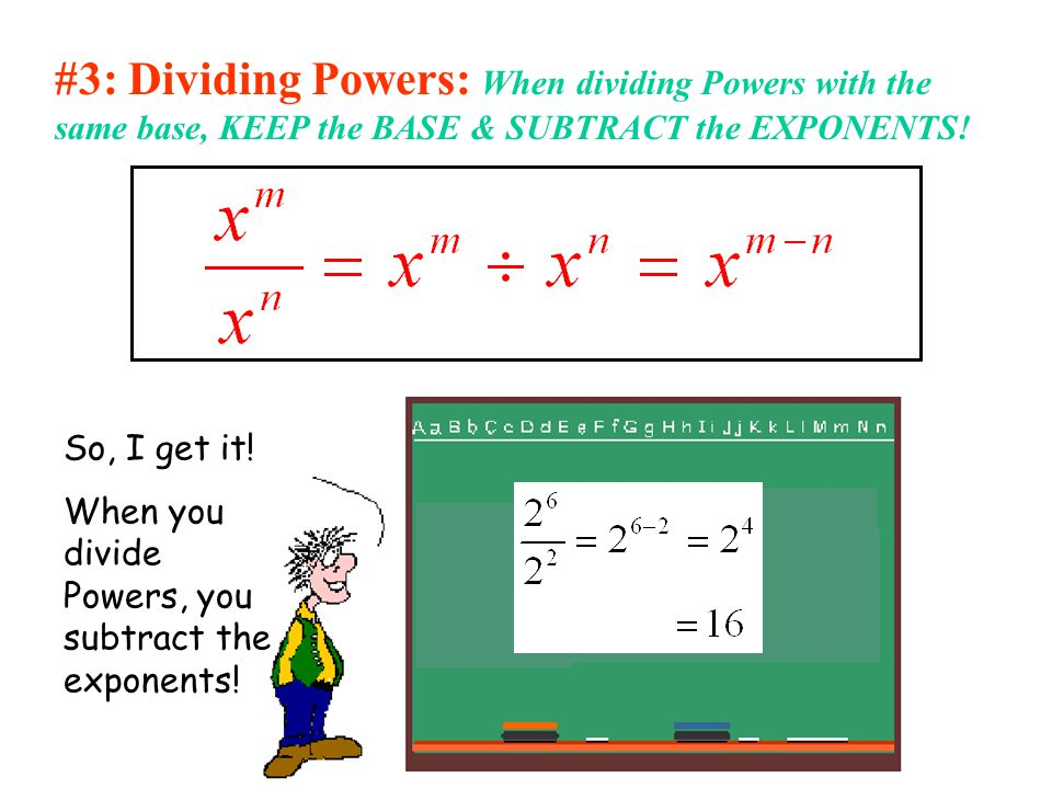 math worksheet : the laws of exponents  ppt video online download : Divide Exponents