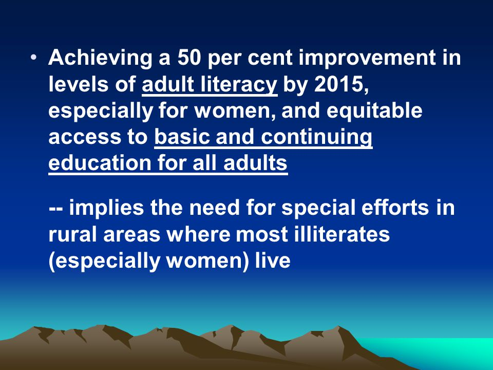 Education improvement in rural area