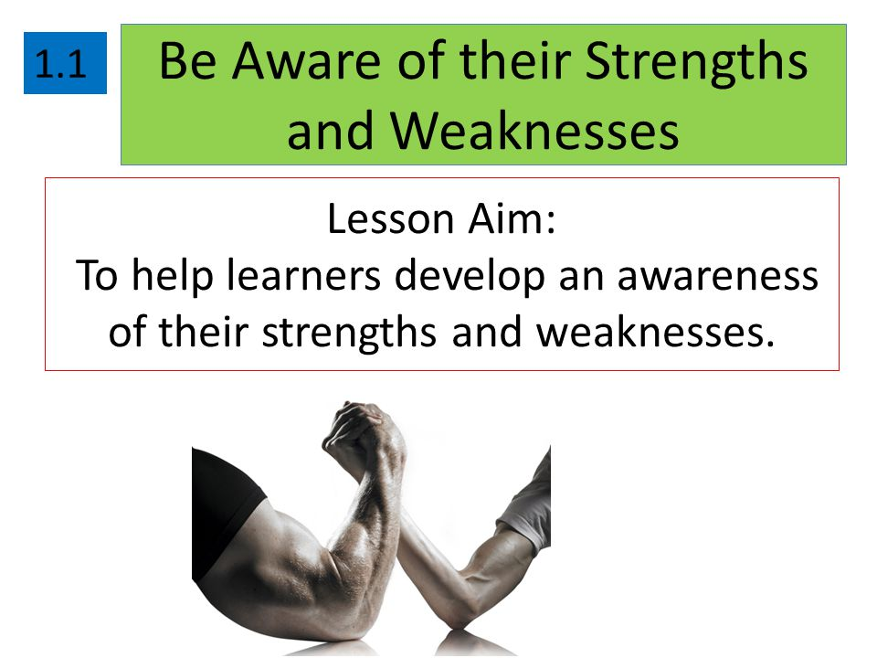 Be Aware of their Strengths and Weaknesses