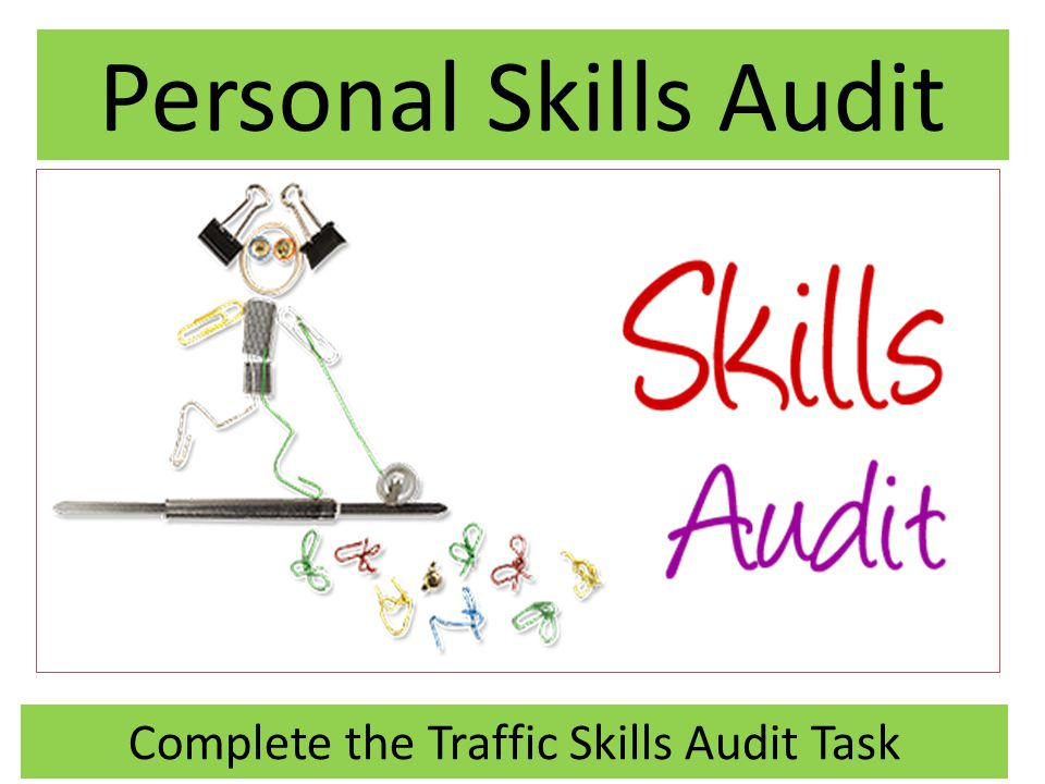 Complete the Traffic Skills Audit Task