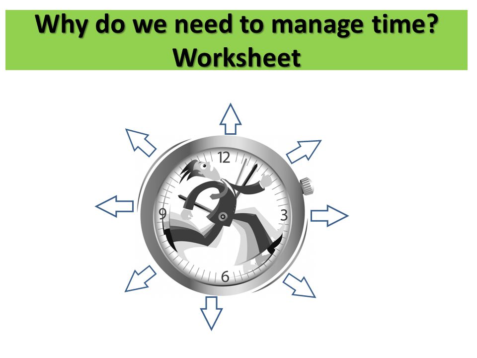 Why do we need to manage time Worksheet
