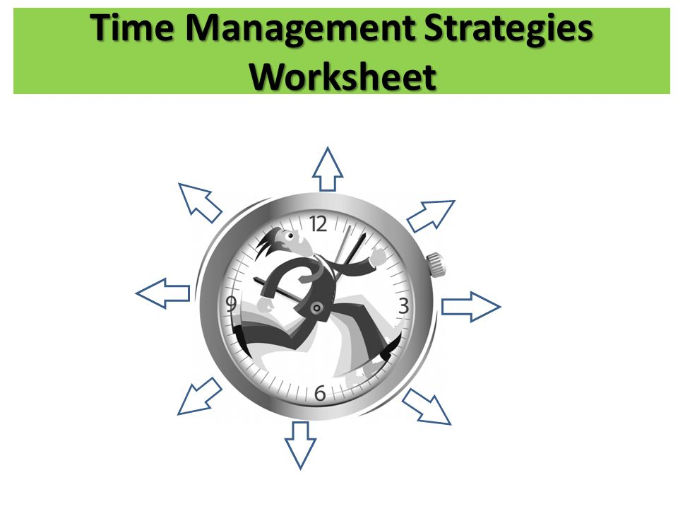 Time Management Strategies Worksheet