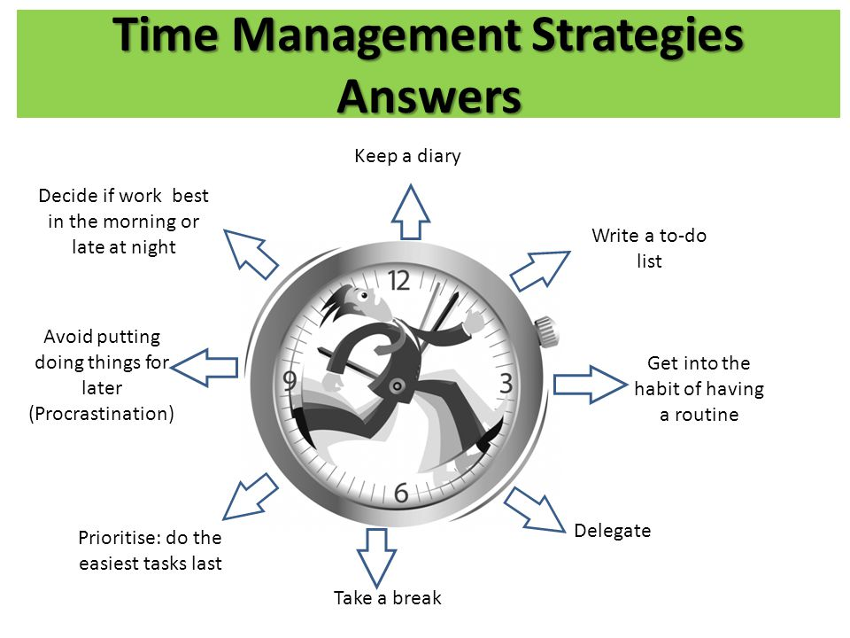 Time Management Strategies Answers