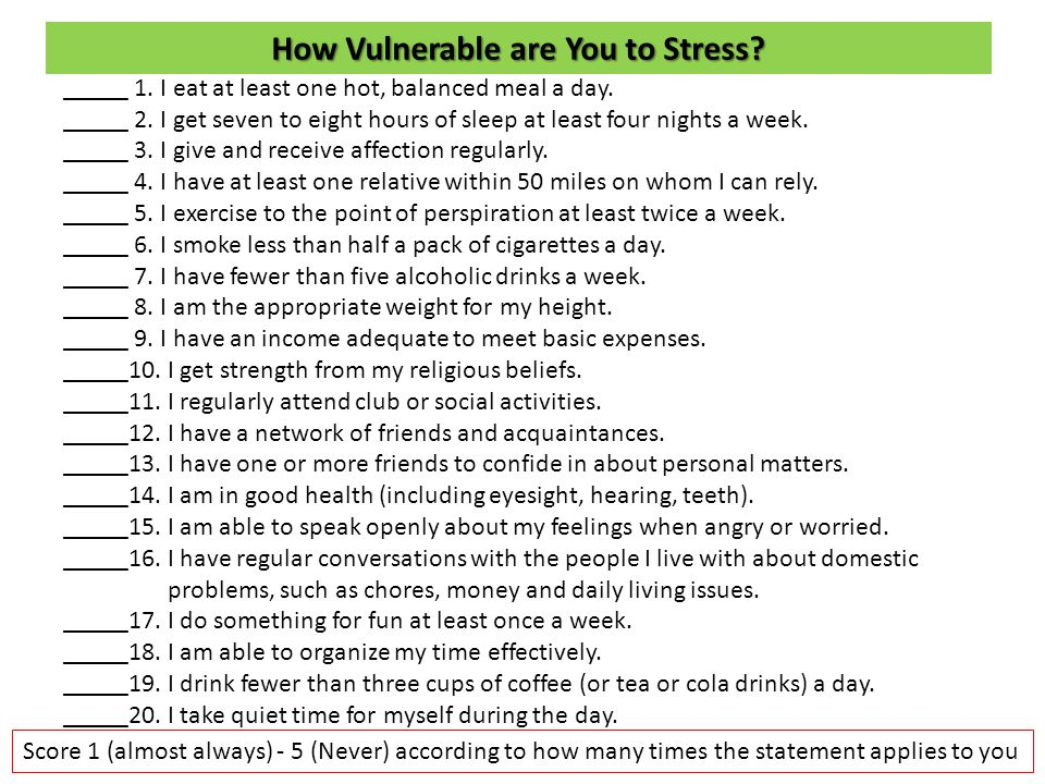 How Vulnerable are You to Stress