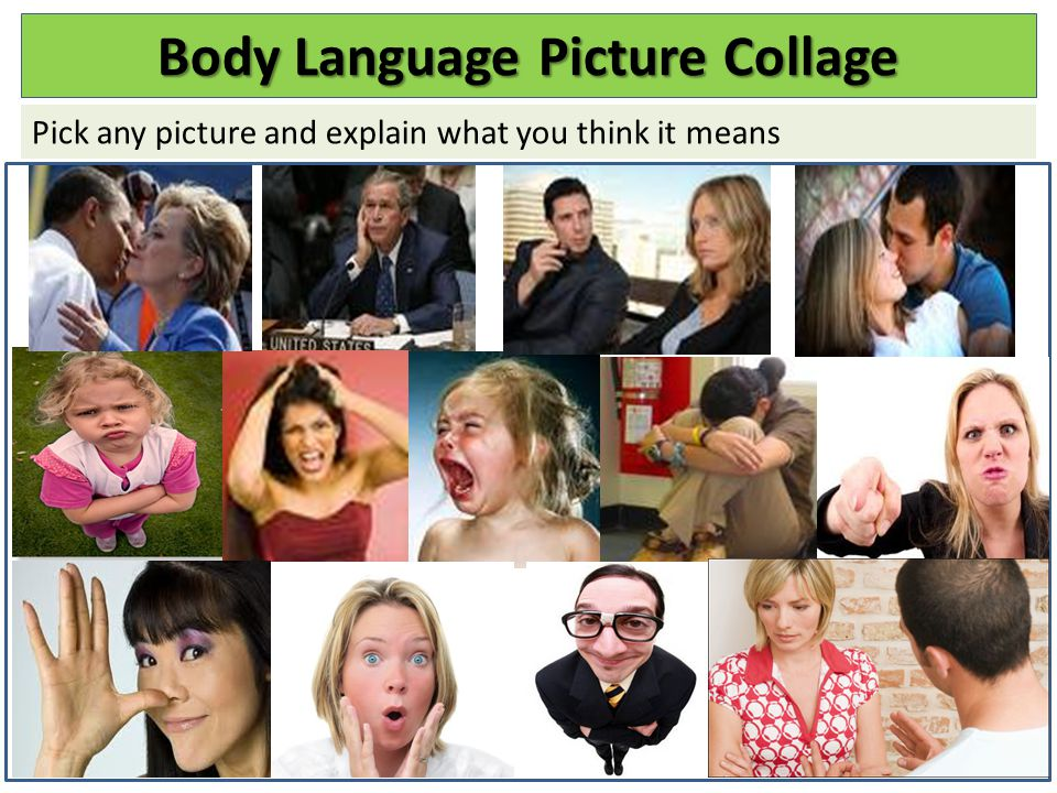 Body Language Picture Collage