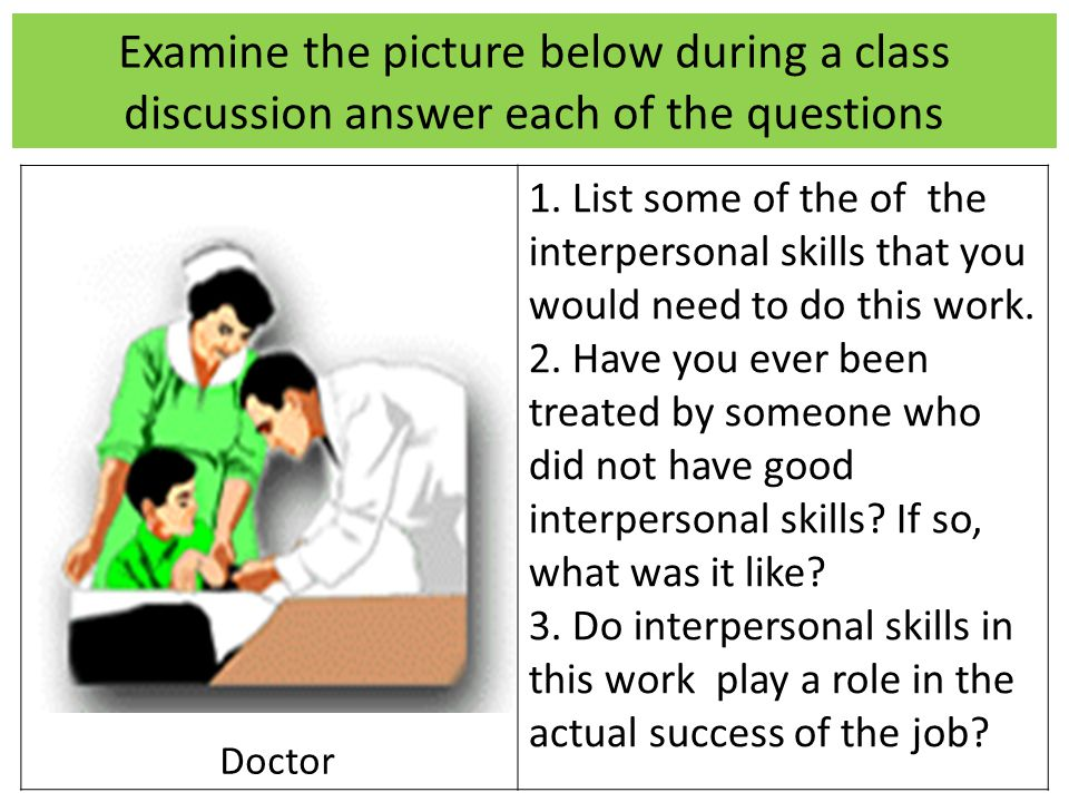 Examine the picture below during a class discussion answer each of the questions