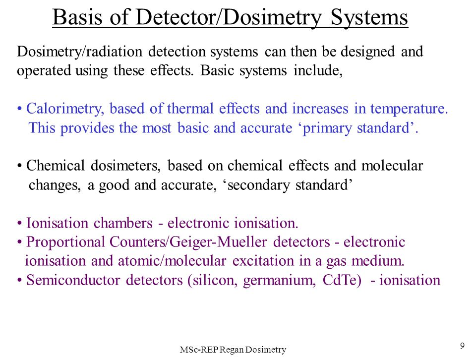 how to detect ionising radiation