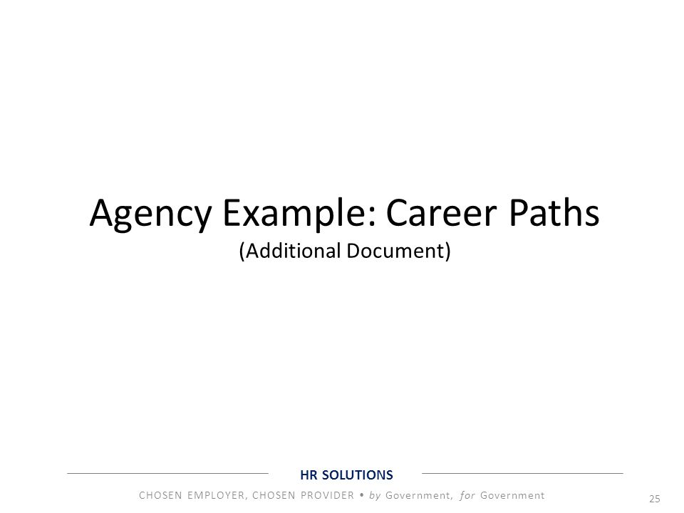 Agency Example: Career Paths (Additional Document)