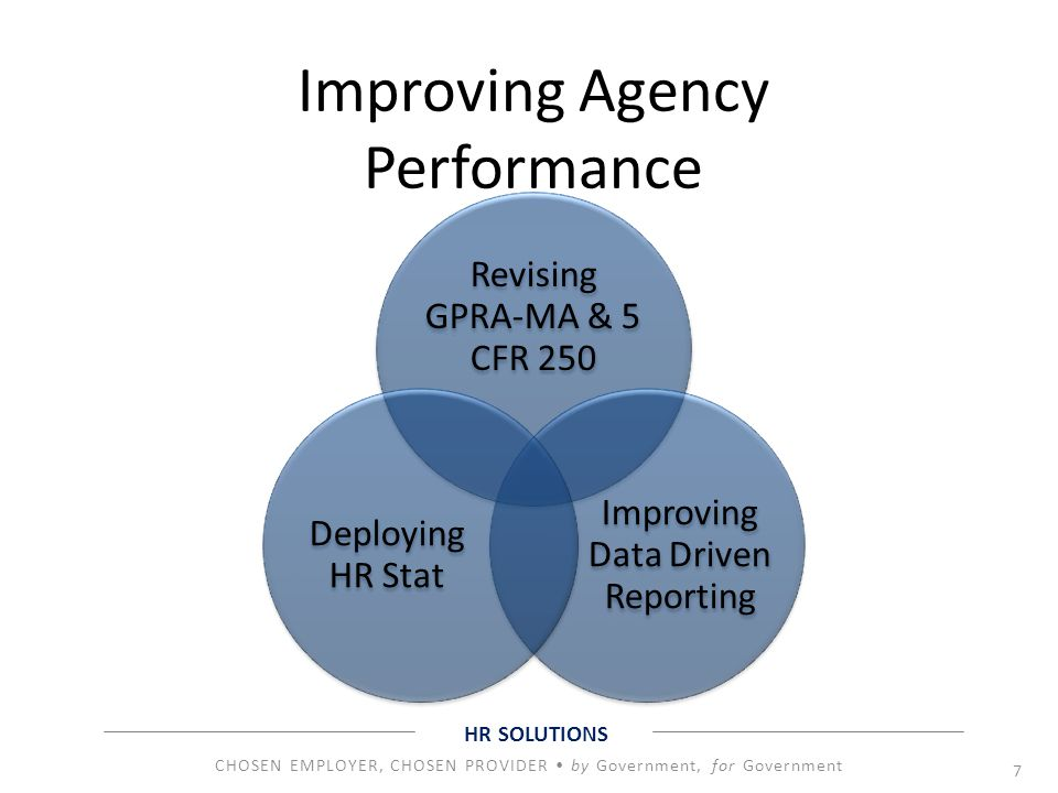 Improving Agency Performance