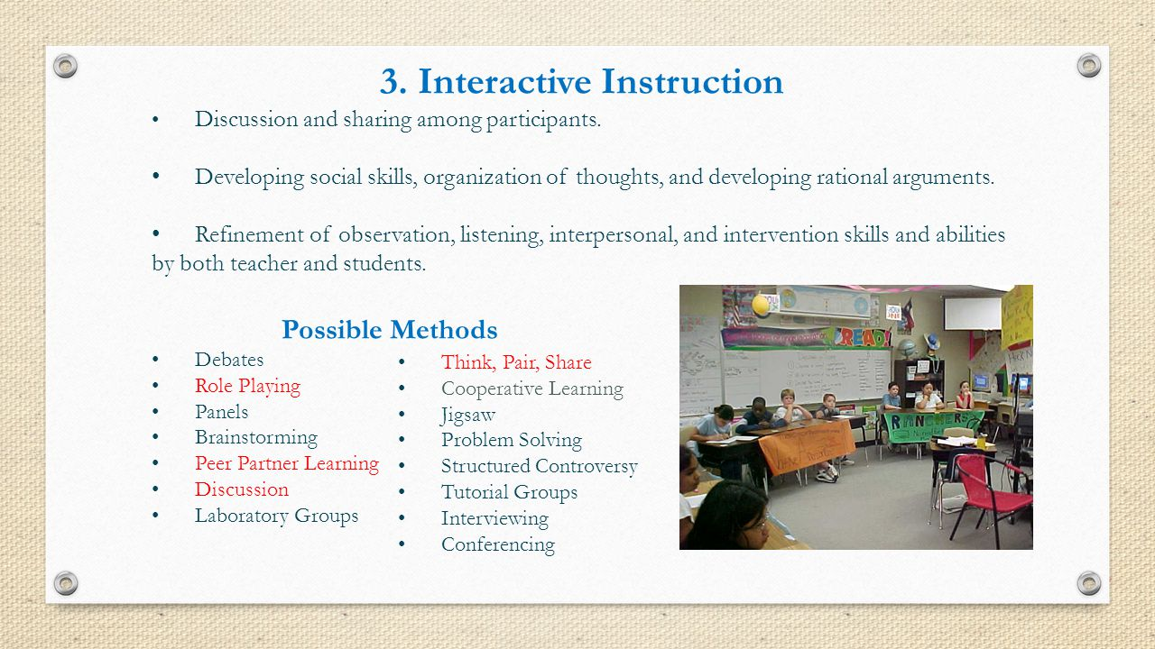 3. Interactive Instruction