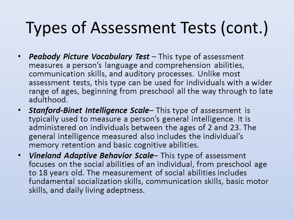 assessment of special education students ppt