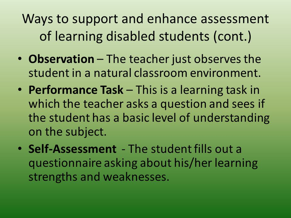 an analysis of an assessment of learning disabled bilingual students A bilingual (english & spanish) psychoeducational assessment model cross battery assessment, learning disability has the student been educated in a bilingual.