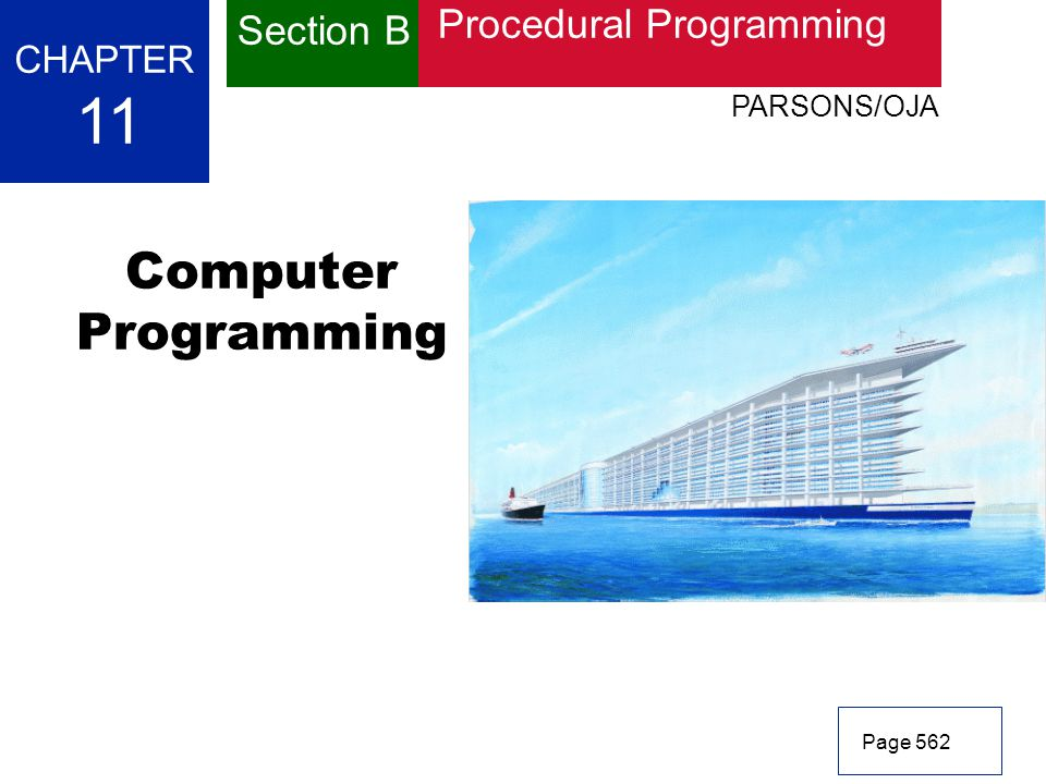 11 Computer Programming Section B Procedural Programming CHAPTER