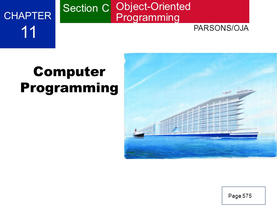 11 Computer Programming Section C Object-Oriented Programming CHAPTER