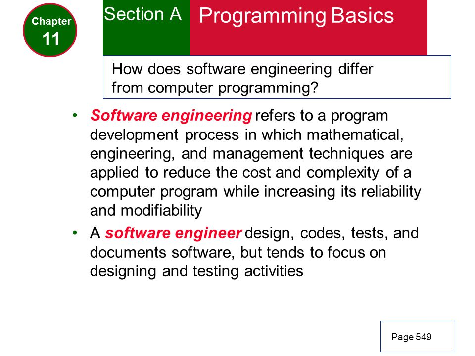 Programming Basics Section A 11