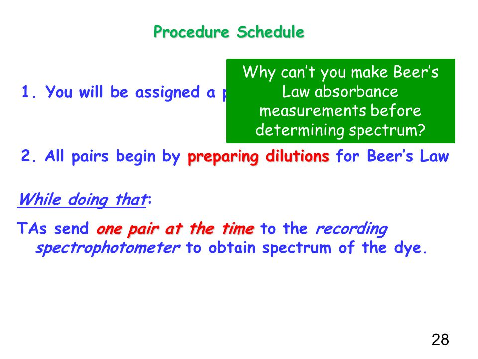 beers law problem set Introduction: according to beer's law, a=ebc, under ideal conditions, a substance's concentration and its absorbance are directly proportional: a high.