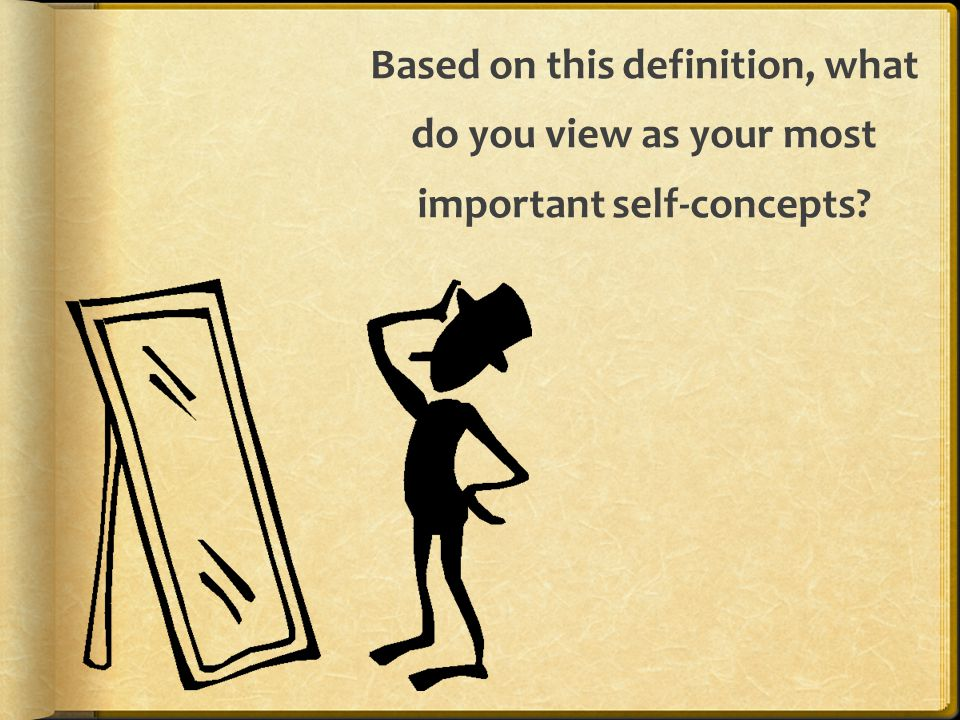 Based on this definition, what do you view as your most important self-concepts