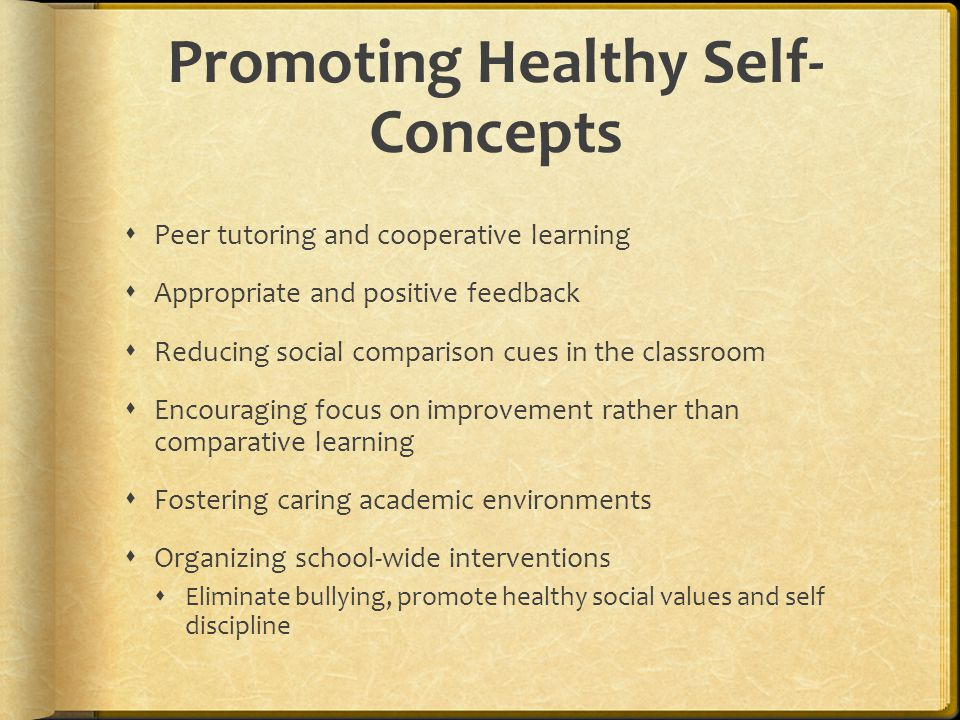 Promoting Healthy Self-Concepts
